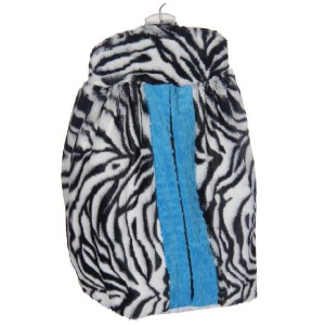 Baby Doll Bedding Zebra Minky Diaper Stacker, Blue by BabyDoll Bedding