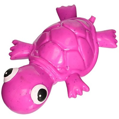 Cycle Dog 3 Play Mini Turtle Squeaking Play Head Float Treat Toy Purple Small