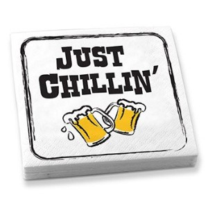 Epic Products Just Chillin' Beverage Napkins (Set of 20) by EPIC