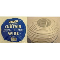 30M 30 METRE 100FT NET CURTAIN WIRE WHITE