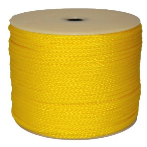 T.W. Evans Cordage 27-402 .3125 in. x 500 ft. Hollow Braid Polypro Rope in Yellow