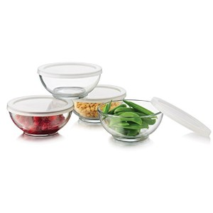Libbey 8 Piece Selene Bowl Set, Clear by Libbey