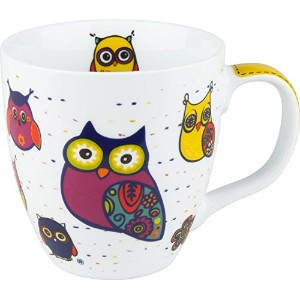 Konitz Owl Mugs, Set of 4 [並行輸入品]