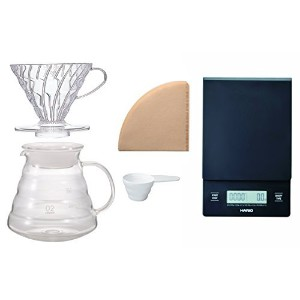 Hario V60 Scale and Brewing Set - For Careful Measuring and Coffee Brewing [並行輸入品]