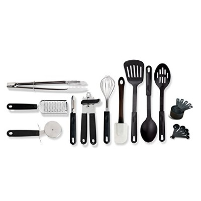 Gibson Home 99202.20 Total 20 Piece Kitchen Tool/Gadget Prepare & Serve Combo Set, Black by Gibson...