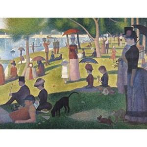 JP London PMUR2249 uStrip Peel and Stick Seurat Removable Wall Decal Sticker Mural, A Sunday on La Grande Jatte, 4 x 3-Feet [並行輸入品]