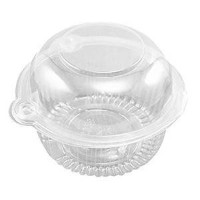 Healthcom 50x Plastic Single Clear Cupcake Pod Cake Muffin Holder Carrier by Healthcom
