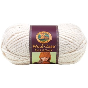 Lion Wool-Ease Thick and Quick 毛糸 超極太 クリーム系 170g