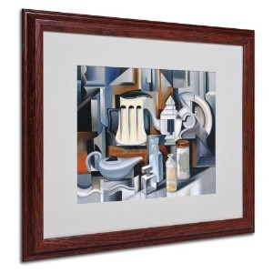 商標FineアートStill Life withティーポットArtwork by Catherine Abel、木製フレーム 16x20-Inch BL01229-W1620MF