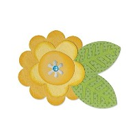 Sizzix Bigz Die, Flower Layers and Leaf #2 by Doodlebug Design by Sizzix