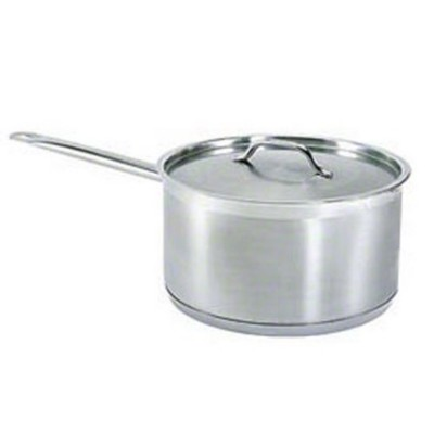 Update International (SSP-3) 3 1/2 Qt Induction Ready Stainless Steel Sauce Pan w/Cover by Update...