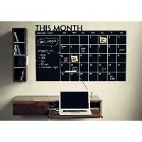 Chalkboard Calendar with Memo Wall Decal Removable waterproof Vinyl Wall Sticker Wall Art Fashion...
