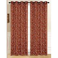 High Quality Tuscan Window Curtain Panel, 54 by 84-Inch, Rust