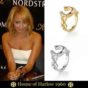 House of Harlow 1960【ハウスオブハーロウ1960】 horseshoe stack ring ホースシュー スタック リング 蹄鉄リング/馬蹄指輪 SALE セレブ 愛用...