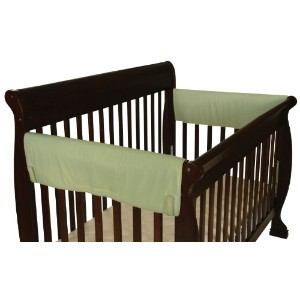 Leachco Easy Teether XL Side Crib Rail Cover, 2 Pack, Sage by Leachco