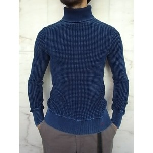 PORTER CLASSIC(ポータークラシック)【FRENCH THERMAL】P.C FRENCH THERMAL TURTLENECK☆BLUE★