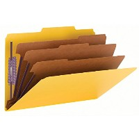 "3"" Expansion Classification Folders, 2/5 Cut, Legal, 8-Section, Yellow, 10/Box (並行輸入品)"