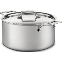 All-Clad BD55508 D5 Brushed 18/10 Stainless Steel 5-Ply Bonded Dishwasher Safe Stockpot Cookware, 8...