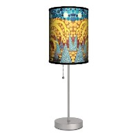 Featured Artists - Sarajo Frieden Yellow Tree Sport Silver Lamp by Lamp-In-A-Box