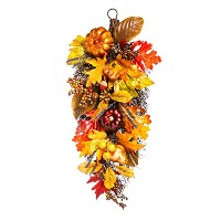 CypressホームHoliday Harvest Wall Hanging Floral Decor