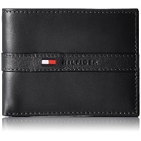 Tommy Hilfiger トミーフィルフィガー 財布 メンズ 財布 Men's Leather Ranger Passcase Wallet (Black)