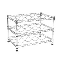 Seville Classics 11.5 by 17.5 by 12-Inch 12-Bottle Wine Rack ワインラック