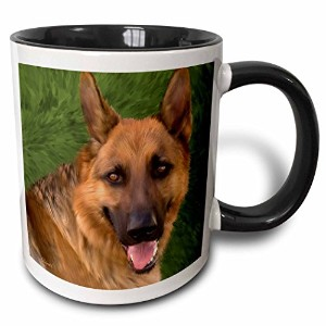3dローズDoreen Erhardt Dogs – German Shepard – マグカップ 11 oz ホワイト mug_11979_4