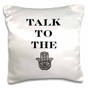 "Tory Anneコレクション引用 – Talk To The Hamsa – 枕ケース 16 by 16"" pc_222134_1"