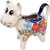 High Quality, 0501/238, Creamer Cow, 1/3 Cup, Royal Blue Patterns with Red Cornflower and Blue...