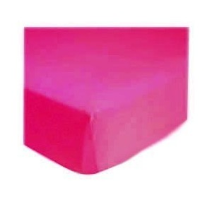 SheetWorld Fitted Pack N Play (Graco) Sheet - Hot Pink Jersey Knit - Solid Colors by sheetworld