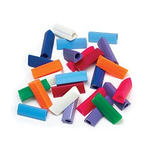 Ableware 736060000 Gripper Pencil Grips, Regular Size, Assorted by Maddak Inc.