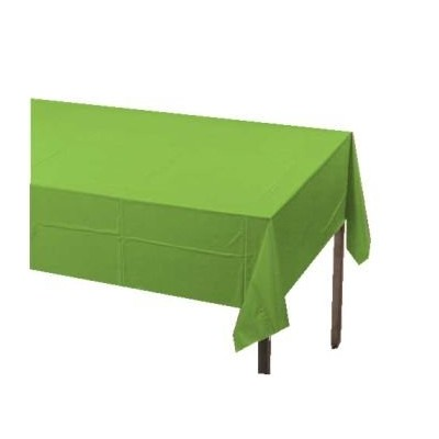 Lime Green 2-Ply Paper/Poly Tablecloth 137.2cm x 274.3cm 6 Per Pack