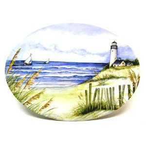 Keller-Charles By the Sea Large Oval Tray by Keller Charles