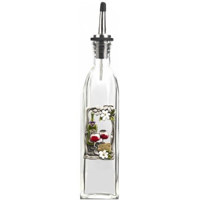 Colour Art Oil Bottle By Ganz - Wine & Cheese