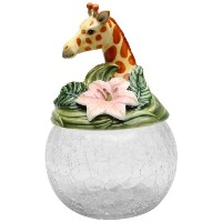 Cosmos Gifts 10805 Giraffe Cookie / Candy Jar withセラミック蓋、9 – 1 / 2インチ