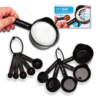 DCI Pop Quiz Math Measuring Cups and Spoons Set, Black by DCI