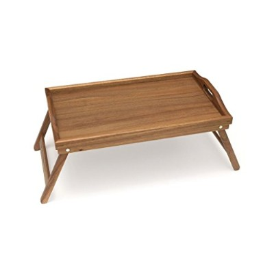 Lipper International 1163 Bed Tray with Folding Legs, Acacia by Lipper International
