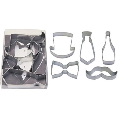 Gentlemen'S Tin Cookie Cutter 5 Pc Set L1933