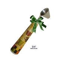 Coffee Scoop With Ceramic Handle - Bonus Coffee and Tea Recipes - Cone Shaped Scooper - Gift Boxed...