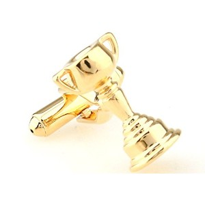 mrcuff Trophy Cup Chalice Cufflinks with aプレゼンテーションギフトボックス