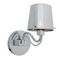 Access Lighting 55530-CH/CHR Milano One Light Wall Sconce with Chrome Glass Shade, Chrome Finish ...