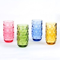 Cupture ImpressionプラスチックTumblers BPAフリー、20オンス、4- Pack ( Assorted Colors )