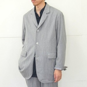 CASEY CASEY(ケーシーケーシー)/ WOOL CASHMERE JACKET -LIGHT GREY-