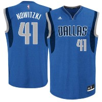 Dirk Nowitzki Dallas Mavericks adidas Replica Road Jersey メンズ Royal Blue NBA レプリカジャージ アディダス ユニフォーム...