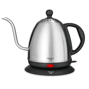 Osaka 1 Liter Electric Gooseneck Drip Kettle for Pour Over Coffee and Tea, Fully Stainless Steel...