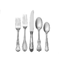 Wallace Hotel 77-Piece Stainless Steel Flatware Set, Service for 12 by Wallace