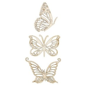 Wood Flourishes 3/Pkg-Magical Butterflies (並行輸入品)
