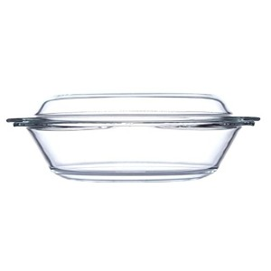 Simax Glassware 7026Oval Casserole with Lid 2.4QT