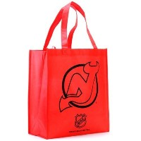 NHL エコ リサイクル トートバッグ デビルズ New Jersey Devils Red Reusable Tote Bag