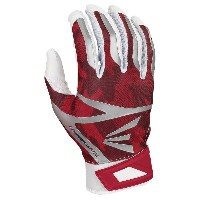 イーストン メンズ 野球 グローブ【Easton Z7 VRS Hyperskin Batting Gloves】White/Red